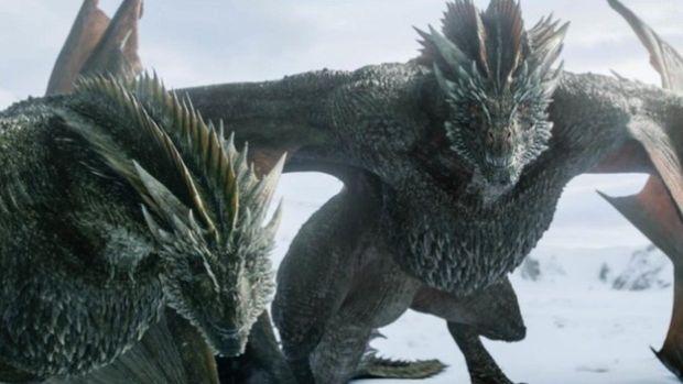 Dos de los dragones de Juego de Tronos