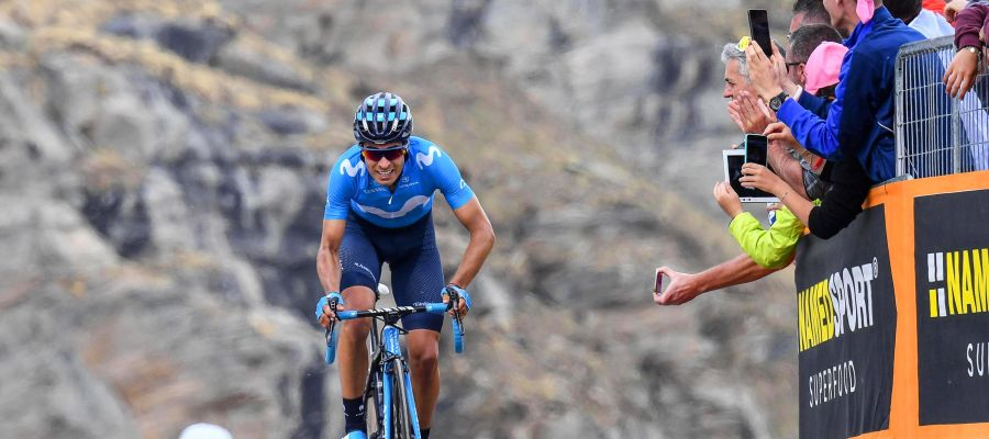 Mikel Landa, en una etapa del Giro de Italia