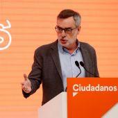 El secretario de Organización de Ciudadanos, José Manuel Villegas