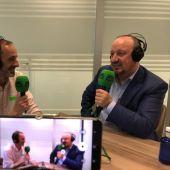 Rafa Benítez junto Edu Esteve en El Transistor