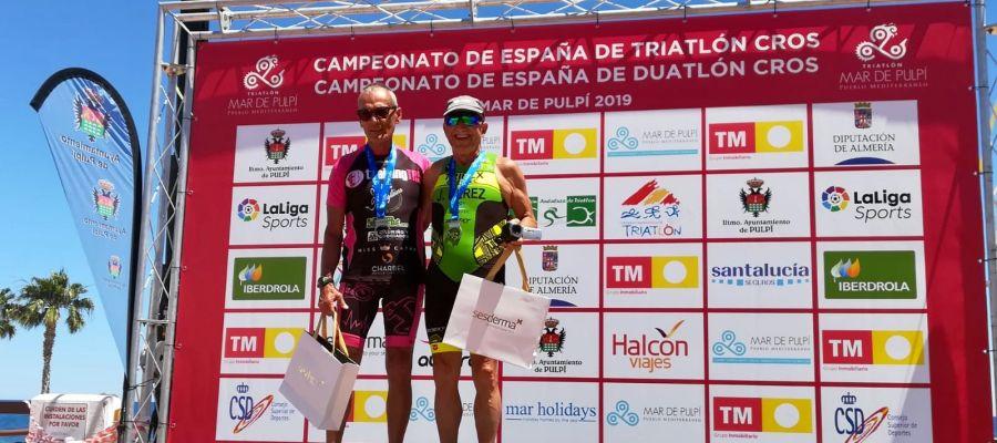 José Pérez impuso su condición de favorito en el campeonato de España de Duatlón Cross.