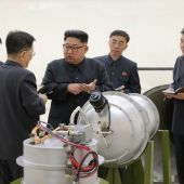 Kim Jong-un, líder supremo de Corea del Norte, en una imagen difundida por el régimen