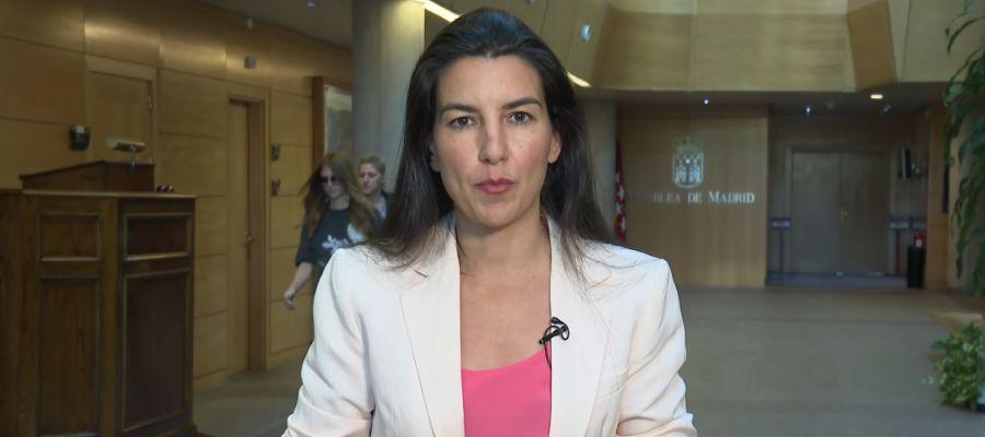 Rocío Monasterio durante una entrevista