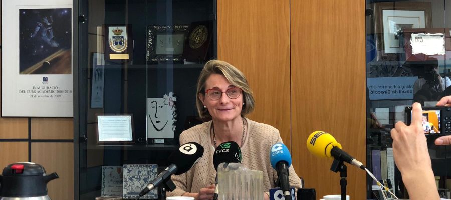 La rectora de la UJI, Eva Alcón.