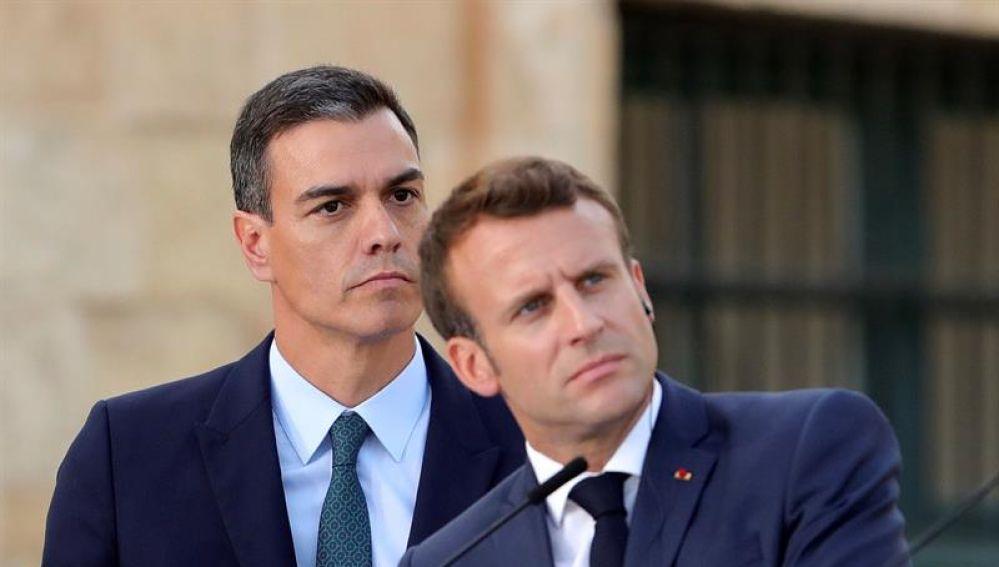 Pedro Sánchez con Macron