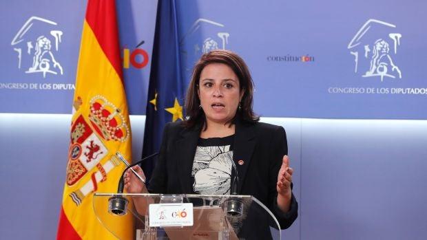 La portavoz parlamentaria del PSOE, Adriana Lastra