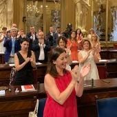 Francina Armengol tras ser reeligida Presidenta del Govern balear en el Parlament