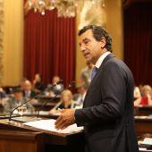 Biel Company, del Partido Popular, en el debate de Investidura de Francina Armengol.