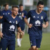 Aarón Ñíguez y Ramón Folch coincidieron hace dos temporadas en el Real Oviedo.