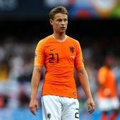 Frenkie de Jong, en un partido con la selección holandesa