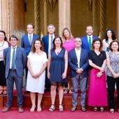 La Presidenta del Govern, Francina Armengol, junto a todos los Consellers del Ejecutivo.