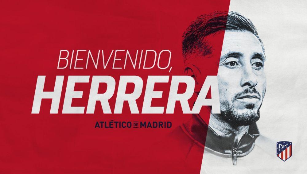 El Atlético da la bienvenida a Héctor Herrera