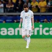 Leo Messi, durante un partido con la selección de Argentina