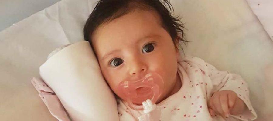 Una foto de la pequeña Matilde compartida por la familia
