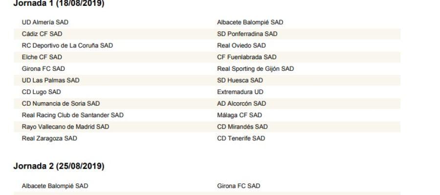 Albacete Balompie Calendario.Asi Queda El Calendario Completo De Segunda Division Para La