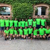 Los deportistas del CN Tenis Elche tras el campeonato.