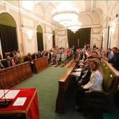 FOTO DE ARCHIVO // Sesión de investidura en el Ayuntamiento de Castellón.