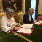 PSOE e IU firman un pre-acuerdo de gobierno en Gijón