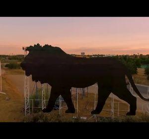 'Simba' sustituirá al Toro de Osborne en las carreteras de Madrid