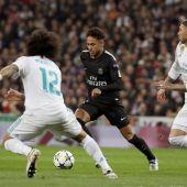 Neymar con Sergio Ramos en el enfrentamiento