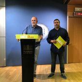 El portavoz de MÉS per Mallorca en el Parlament, Miquel Ensenyat, y el diputado Joan Más 'Collet'.