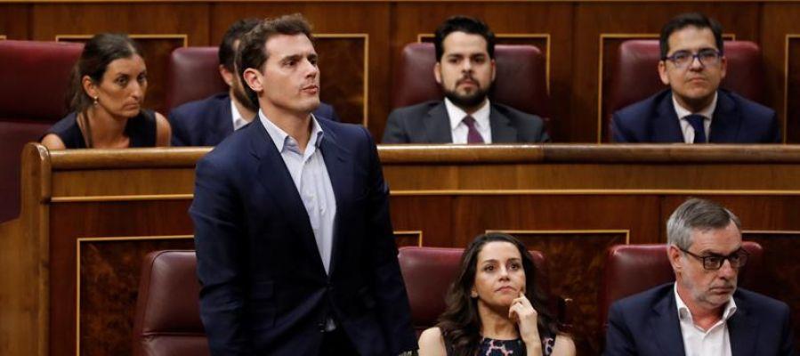 Albert Rivera e Inés Arrimadas en el Congreso