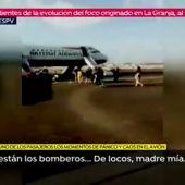 Así fue la imprudente evacuación del avión en Valencia