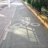 Carril Bici ubicado en la avenida de Santa Pola de Elche.