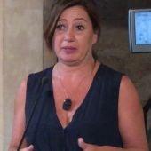 La presidenta de Baleares, Francina Armengol, comparece tras el encuentro mantenido en Palma con Pedro Sánchez.