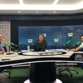 La España agosteña: David Robles, Óscar Conde, Óscar Plaza, Mario Álvarez y Juan Carlos Vélez
