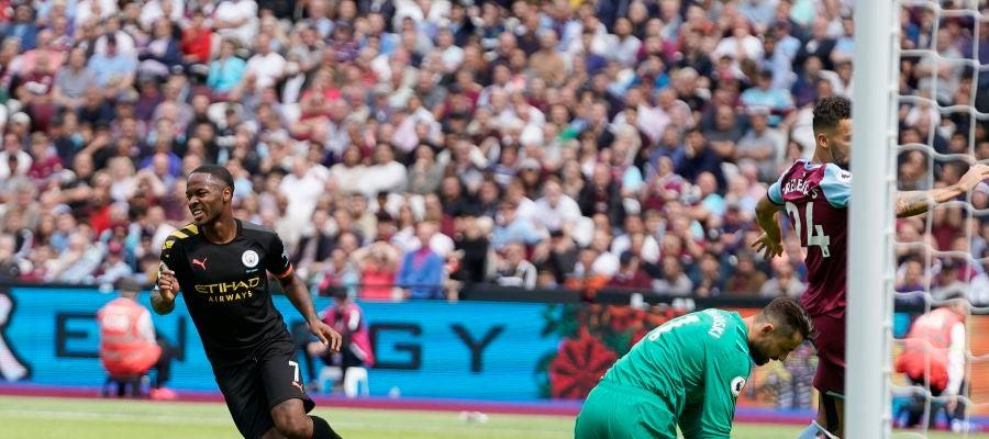 El campeón Manchester City comienza goleando en el campo del West Ham