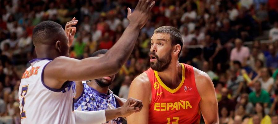 La selección española de baloncesto arrolló a la República Democrática del Congo