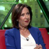 """Margarita Robles descarta un Gobierno de coalición con Podemos: """"Esa posibilidad ya murió, sus planteamientos responden a tener un sillón determinado"""""""