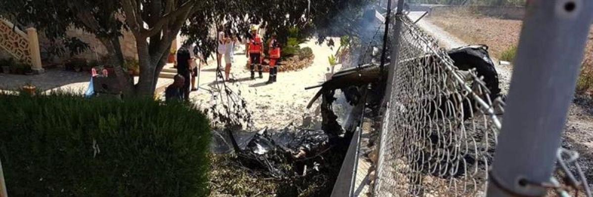 Siete muertos en una colisión entre un helicóptero y un ultraligero en Inca