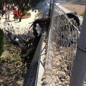 Lugar del accidente de avioneta en Mallorca
