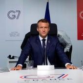 Donald Trump y Emmanuel Macron en la cumbre del G7