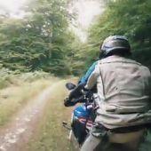 Última parte de la ruta en moto de Charly Sinewan por los Pirineos