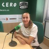 La catalana Ivet Musons, en su última visita a los estudios de Onda Cero Elche.