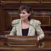 """Carmen Calvo: """"La Comisión Europea reconoce que fue el gobierno español el que desbloqueó la crisis del Open Arms"""""""