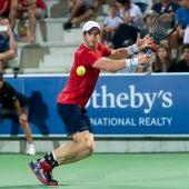 El tenista Andy Murray, en un partido disputado en el Rafa Nadal Open, en Manacor.