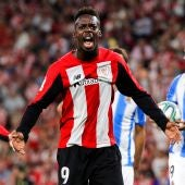 Iñaki Williams celebra su gol ante la Real Sociedad