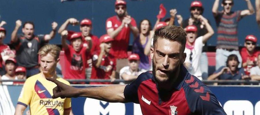 Roberto Torres celebra su gol ante Osasuna