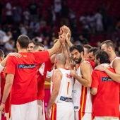 La Selección unida tras el primer encuentro del Mundial de baloncesto 2019