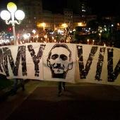 Pancarta en honor a Jimmy