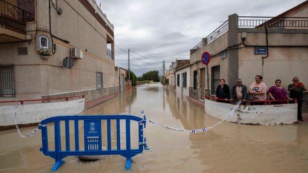 Zona afectada en Murcia tras el paso de la gota fría.