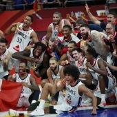 Francia celebra su tercer puesto en el Mundial de Baloncesto 2019
