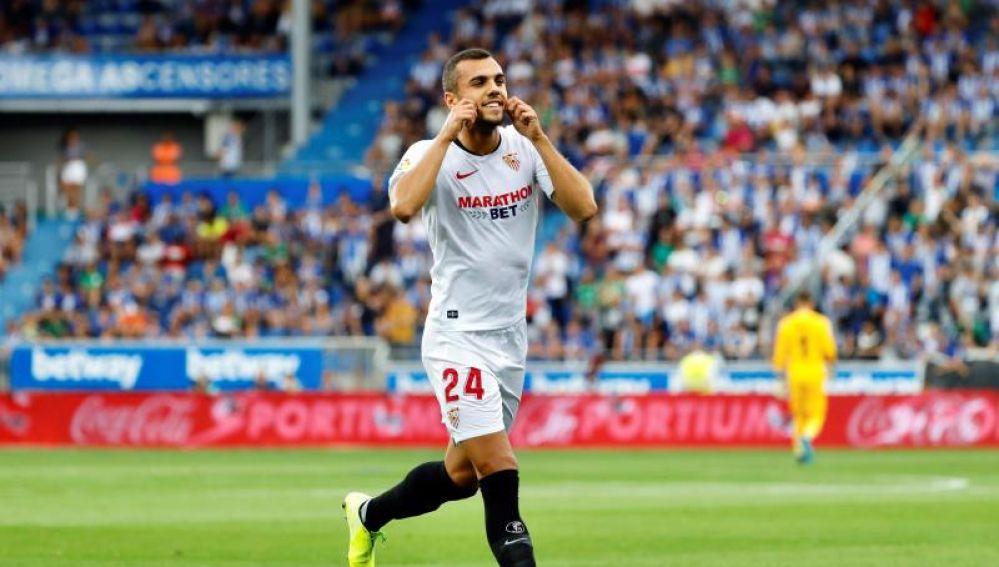 El jugador del Sevilla, Joan Jordán