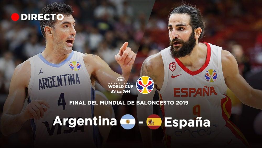 España Argentina baloncesto, final de mundial en directo