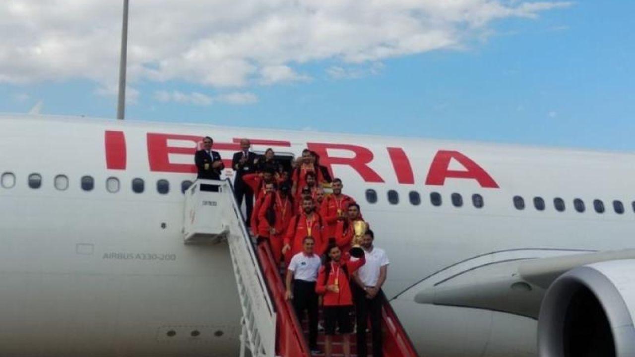 La Selección Española de Baloncesto aterriza en Madrid