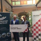 Aerocas y Volotea presentan la nueva conexión que une Castellón con Marsella.
